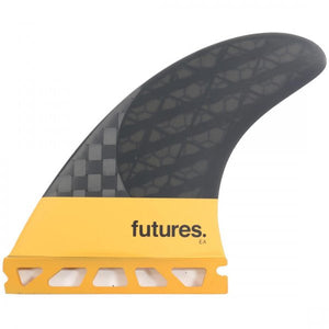 Futures EA Blackstix 3.0 Tri Fin Set Medium - Orange-Futures EA Blackstix 3.0 Tri Fin Set Medium - Orange-Green Overhead