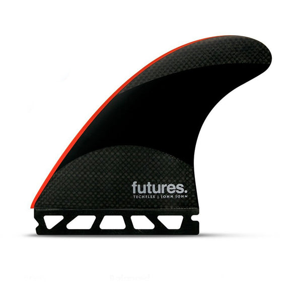 Futures John John Florence Techflex Tri Fin Set Black / Neon Red - Large-Futures John John Florence Techflex Tri Fin Set Black / Neon Red - Large-Green Overhead