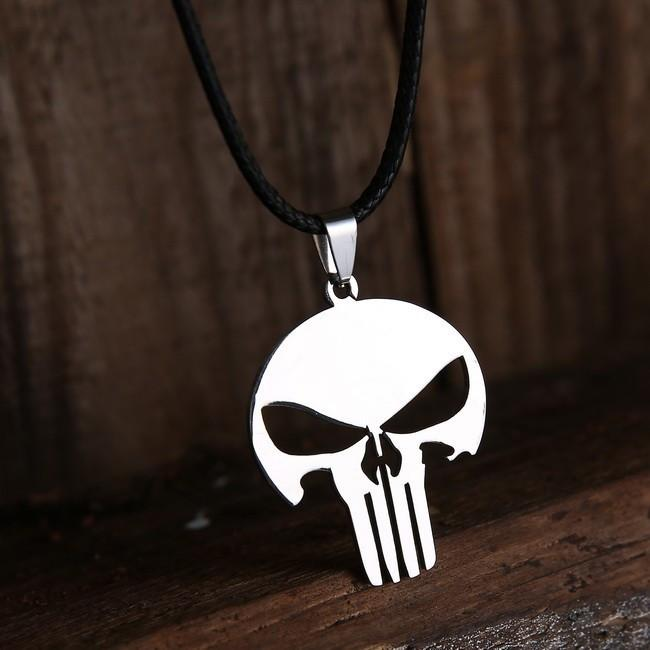 Punisher Skull Necklace Pendant - TopTier Shop Unique Fun Trending Gifts Hot Items Shopping Necklace