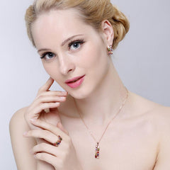 18K Rose Gold Plate Jewelry Set - TopTier Shop Unique Fun Trending Gifts Hot Items Shopping Jewelry set