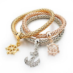 Gold Charm Elastic Bracelets (3pcs) - TopTier Shop Unique Fun Trending Gifts Hot Items Shopping Bracelet