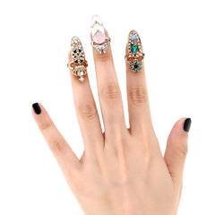 Gold Plated Nail Art Rings - TopTier Shop Unique Fun Trending Gifts Hot Items Shopping Ring
