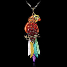 Exquisite Colourful Parrot Necklace - TopTier Shop Unique Fun Trending Gifts Hot Items Shopping Necklace