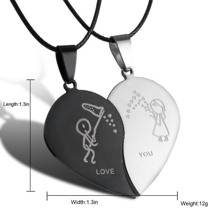 Half Heart Pendant Necklace - TopTier Shop Unique Fun Trending Gifts Hot Items Shopping Necklace