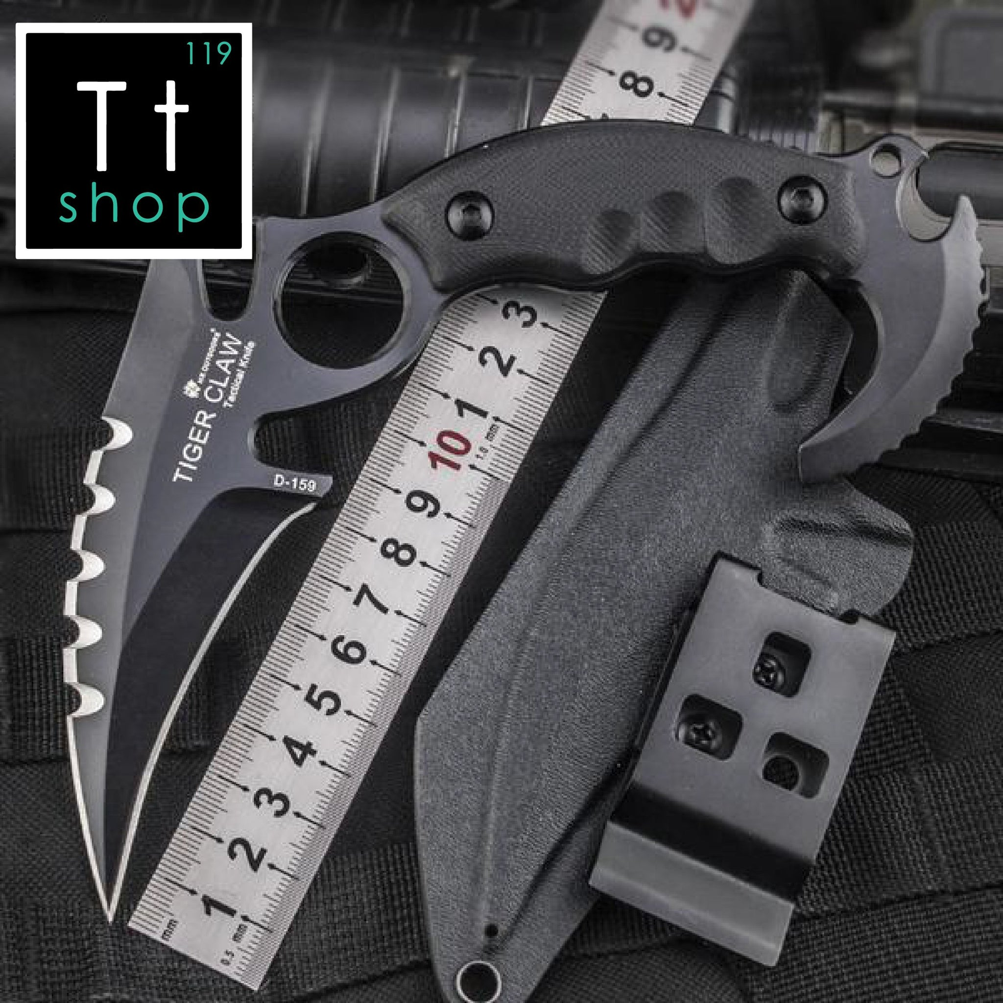 Outdoor Tactical Tiger Knife - TopTier Shop Unique Fun Trending Gifts Hot Items Shopping tactical