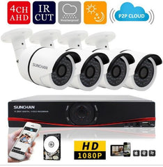 1080P Real Time Outdoor Security System 1TB