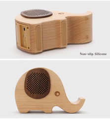 Walnut Elephant Bluetooth Speaker & Phone/Pencil Holder - TopTier Shop Unique Fun Trending Gifts Hot Items Shopping Electronic