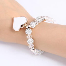 Crystal Bangle Heart Bracelets - TopTier Shop Unique Fun Trending Gifts Hot Items Shopping Accessories