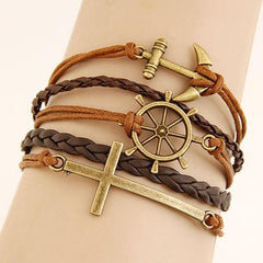 Vintage Charm Leather Bracelet - TopTier Shop Unique Fun Trending Gifts Hot Items Shopping Accessories