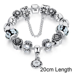 Silver Glass Bead Strand Bracelet - TopTier Shop Unique Fun Trending Gifts Hot Items Shopping Accessories