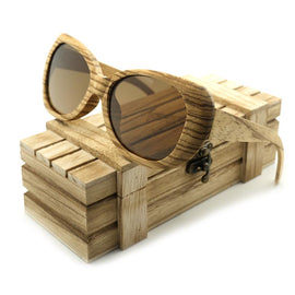 Zebra Wood Sunglasses - TopTier Shop Unique Fun Trending Gifts Hot Items Shopping Sunglasses