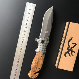 Carbon Fiber Rosewood Folding Knife - TopTier Shop Unique Fun Trending Gifts Hot Items Shopping tactical