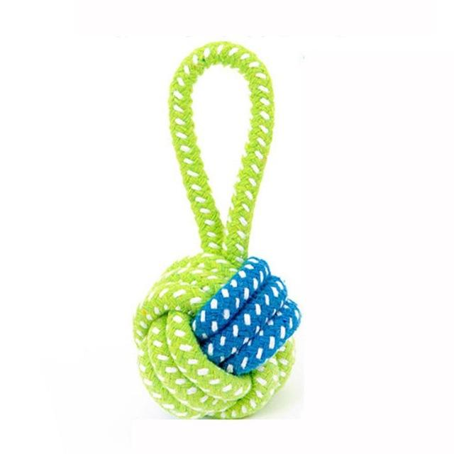 Dog Toy Puppies Chew Tooth Cleaning Cotton Rope with Handle Knot Bite Resistant Ball Teeth Molars Pet Toys For Large Small Dogs - TopTier Shop Unique Fun Trending Gifts Hot Items Shopping cat/dog