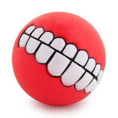 Funny Pets Dog Puppy Cat Ball Teeth Toy PVC Chew Sound Dogs Play Fetching Squeak Toys Pet Supplies - TopTier Shop Unique Fun Trending Gifts Hot Items Shopping dog