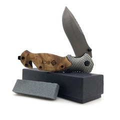 Wood/Titanium Tactical Folding Knife - TopTier Shop Unique Fun Trending Gifts Hot Items Shopping tactical