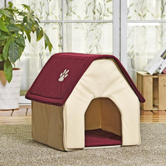 HOT!! Dog Bed Cama Para Cachorro Soft Dog House+Blanket Option Pet Cat Dog Home Shape 2 Colors Red/Green Puppy Kennel Soft - TopTier Shop Unique Fun Trending Gifts Hot Items Shopping cat/dog