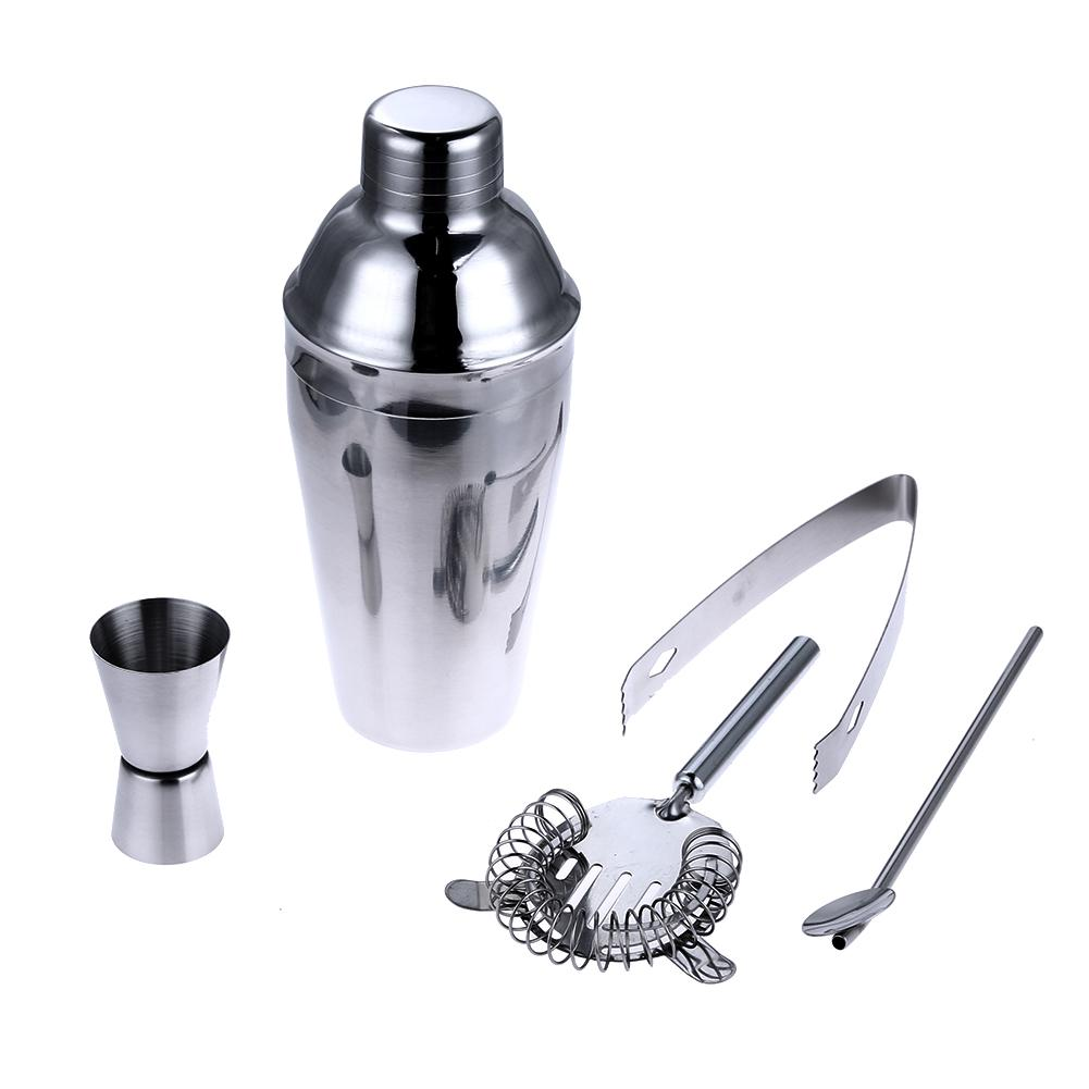Stainless Steel Cocktail Shaker (5pcs) - TopTier Shop Unique Fun Trending Gifts Hot Items Shopping wine