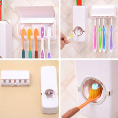 Automatic Toothpaste Dispenser + Toothbrush Holder - TopTier Shop Unique Fun Trending Gifts Hot Items Shopping Home