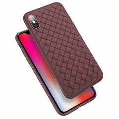 Weave Grid Silicone iPhone Case - TopTier Shop Unique Fun Trending Gifts Hot Items Shopping Phone Accessories