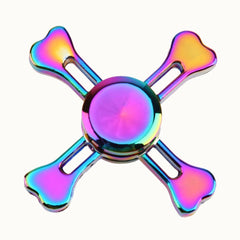 Rainbow Crossbones Fidget Spinner - TopTier Shop Unique Fun Trending Gifts Hot Items Shopping