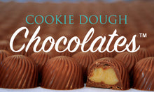 Clear Long Box of 18 Cookie Dough Chocolates (TM)