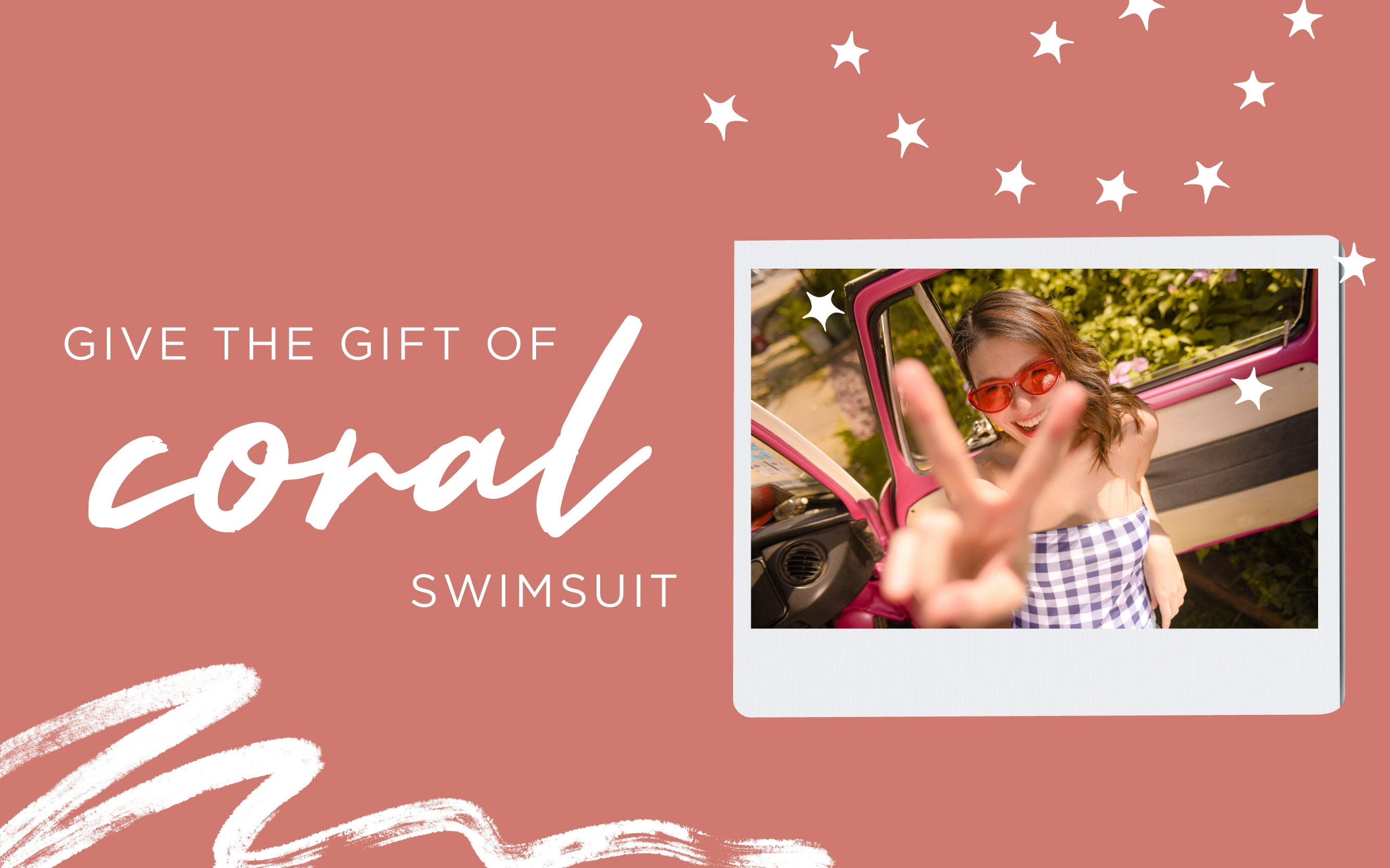 Give the Gift of Coral Swimsuit