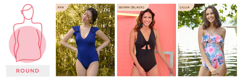 0cda4cf039 Got a round body shape  Here are styles that will suit your figure.  Strategically-placed ruffles also gives you a more well-proportioned