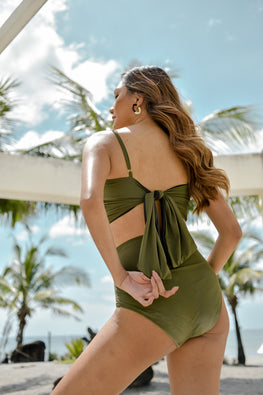 KEEVA (Olive) Two-piece Swimsuit