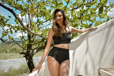 KEEVA (Black) Two-piece Swimsuit