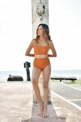 KEEVA (Apricot) Two-piece Swimsuit