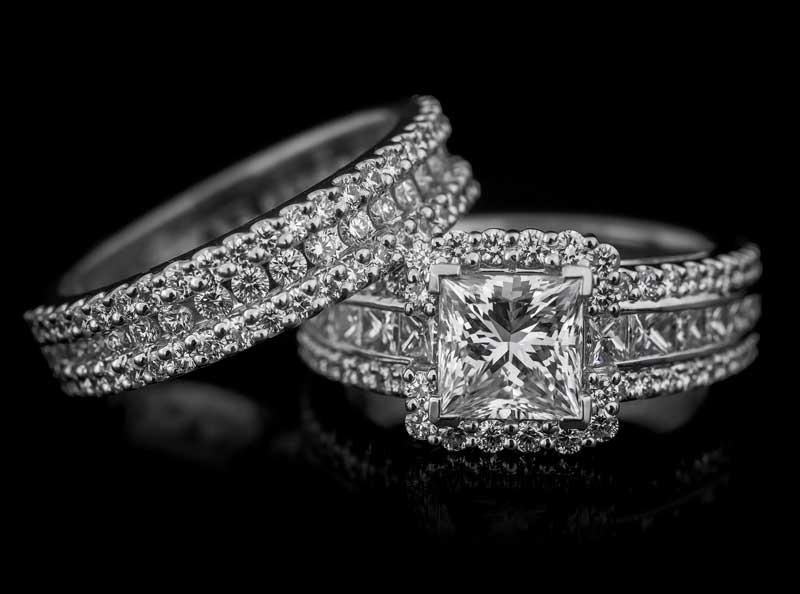 engagement rings and wedding bands by Robert Pelliccia