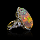 "<span class=""subtitlerp"">Treasured Opals Collection</span><br /><br />14.27ct Opal and Diamond Ring Set in 18k Yellow Gold"