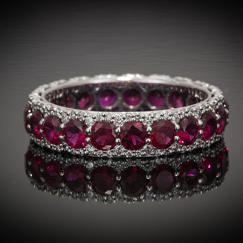 "<span class=""subtitlerp"">Romancína Collection</span><br /><br />Ruby and Diamond Eternity Ring"