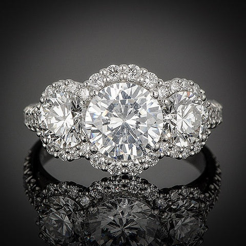 "<span class=""subtitlerp"">New Vintage Collection</span><br /><br />Platinum 1.73ctw Round Diamond Engagement Ring Setting"