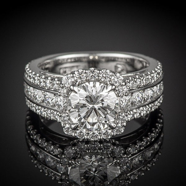 "<span class=""subtitlerp"">Passion Collection</span><br /><br />Platinum Passion Diamond Halo Engagement Ring"