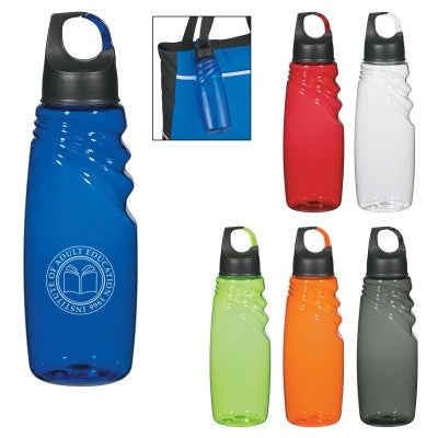 24 Oz. Crest Carabiner Sports Bottle H5933