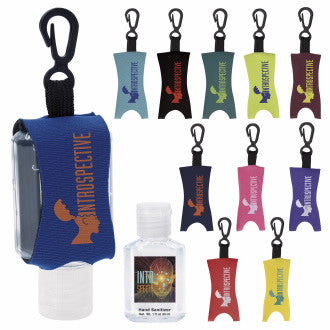 1 Oz. Custom Label Hand Sanitizer with Leash