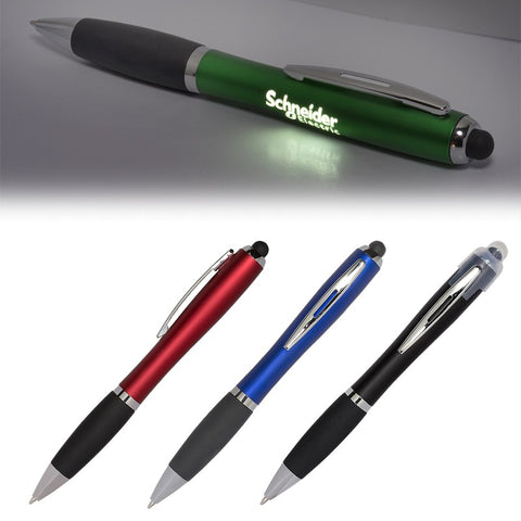 Budget LED Light Up Logo Pen/ Stylus