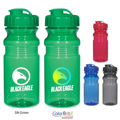 20 Oz. Poly-Clear Fitness Bottle With Super Sipper