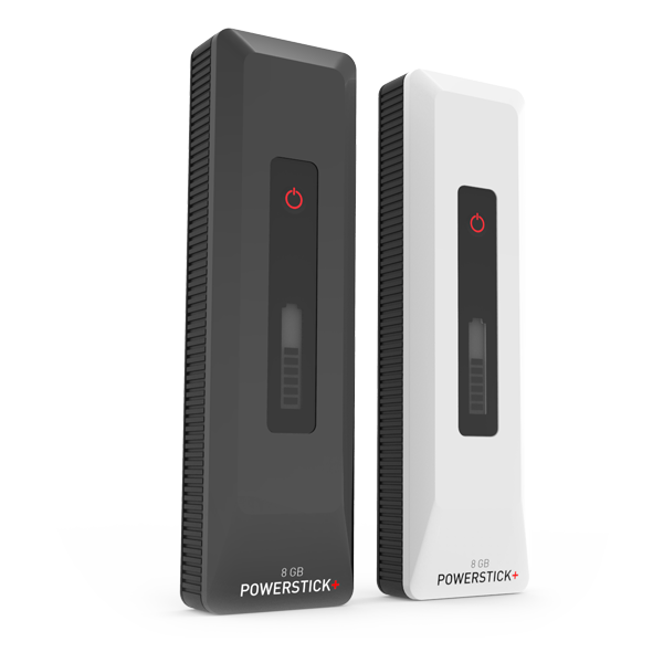PowerStick+ available in black and white