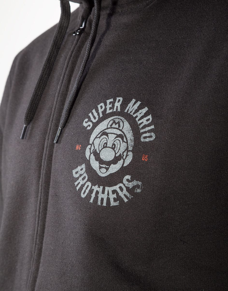 Official Nintendo Super Mario Biker Men's Zipper Hoodie