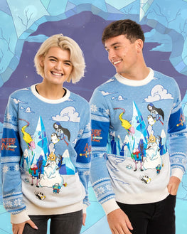 Official Adventure Time Festive Winter Christmas Jumper / Ugly Sweater