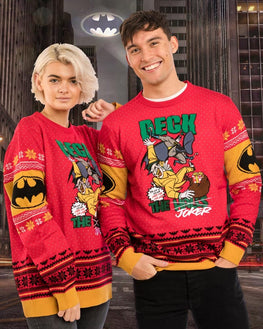 Official Batman Deck The Halls Christmas Jumper / Ugly Sweater