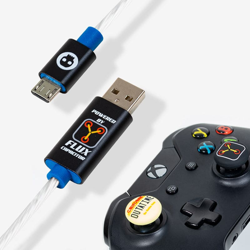 Official Back to the Future LED Micro USB Cable & Thumb Grips (PS4 and Xbox One)