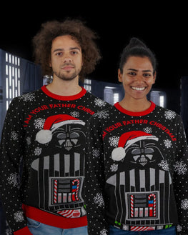Official Star Wars 'I Am Your Father' Darth Vader Christmas Jumper / Ugly Sweater