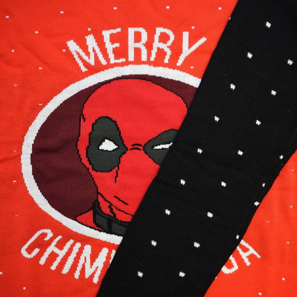 Official Marvel Deadpool Merry Chimichanga Christmas Jumper / Ugly Sweater