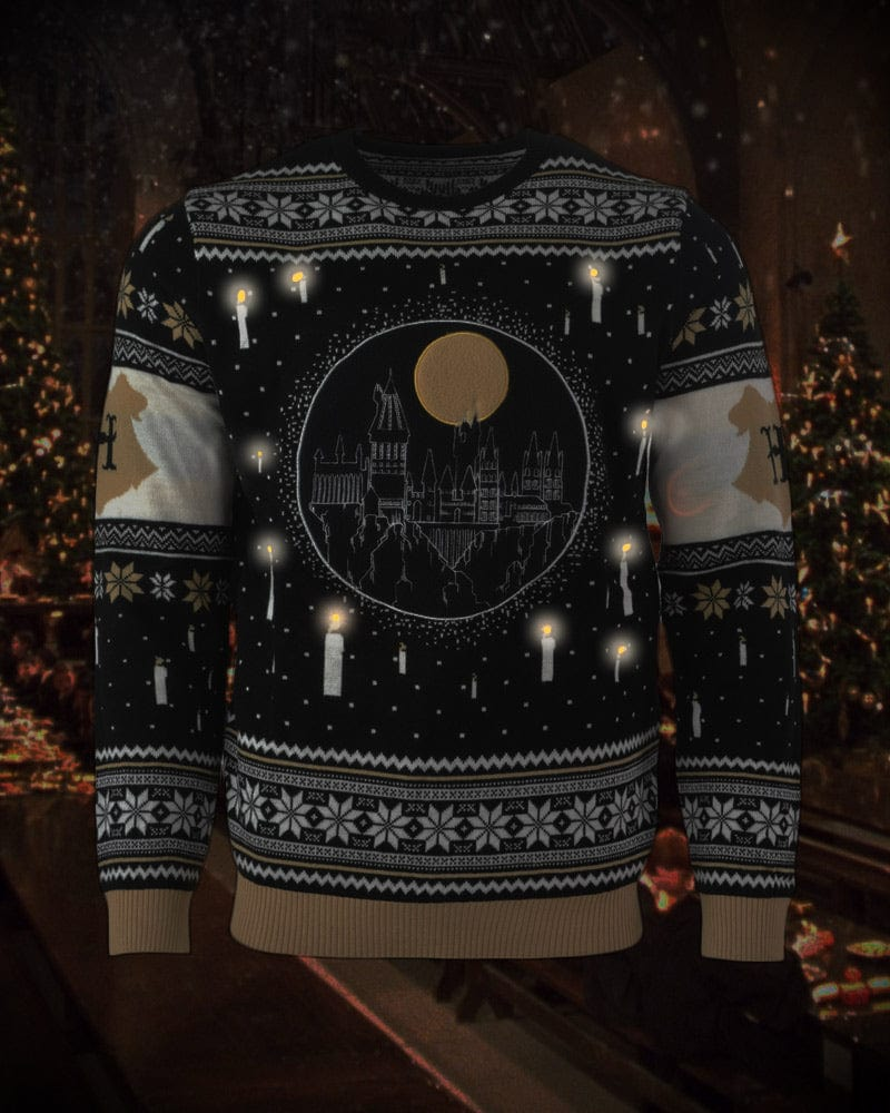 Official Harry Potter Hogwarts Castle Candles Christmas Jumper / Ugly Sweater