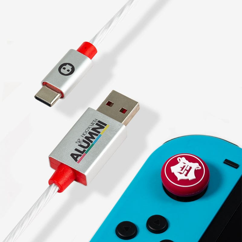 Official Harry Potter LED USB C Cable & Thumb Grips (Nintendo Switch)