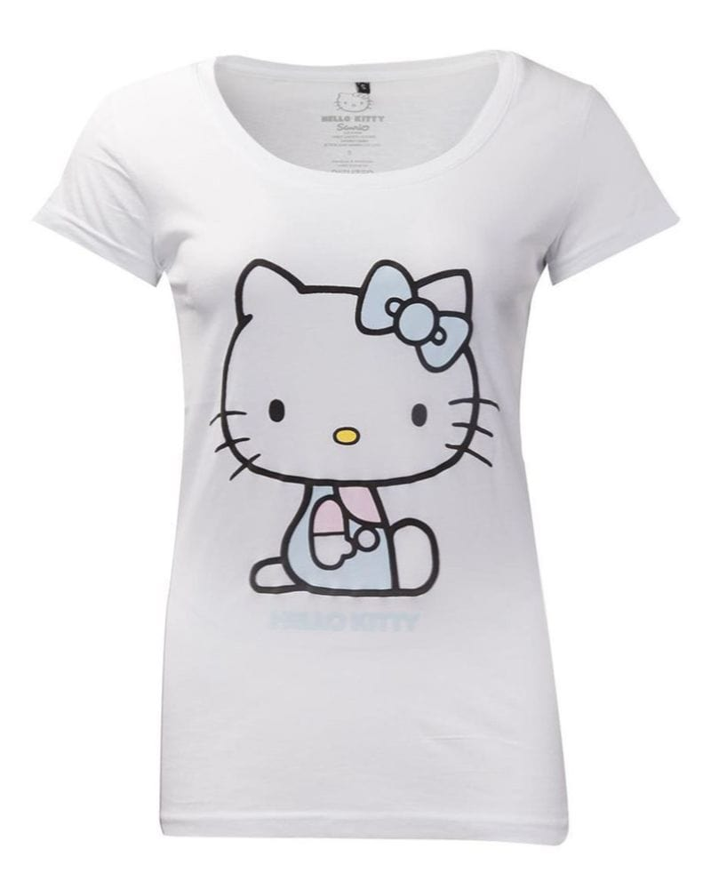 Official Hello Kitty Women's T-shirt With Embroidery Details
