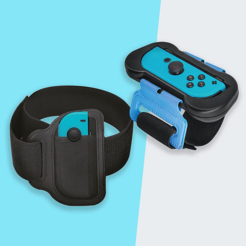 Numskull Nintendo Switch Joy-Con Ring Fit & Just Dance Straps (2 Pack)